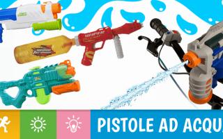 Le pistole ed i fucili ad acqua sono prodotti pensati per i bambini ma spesso e volentieri vengono u