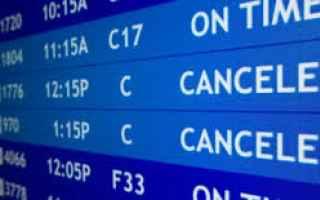 Viaggi: aereo  volo  cancellato  indennizzo