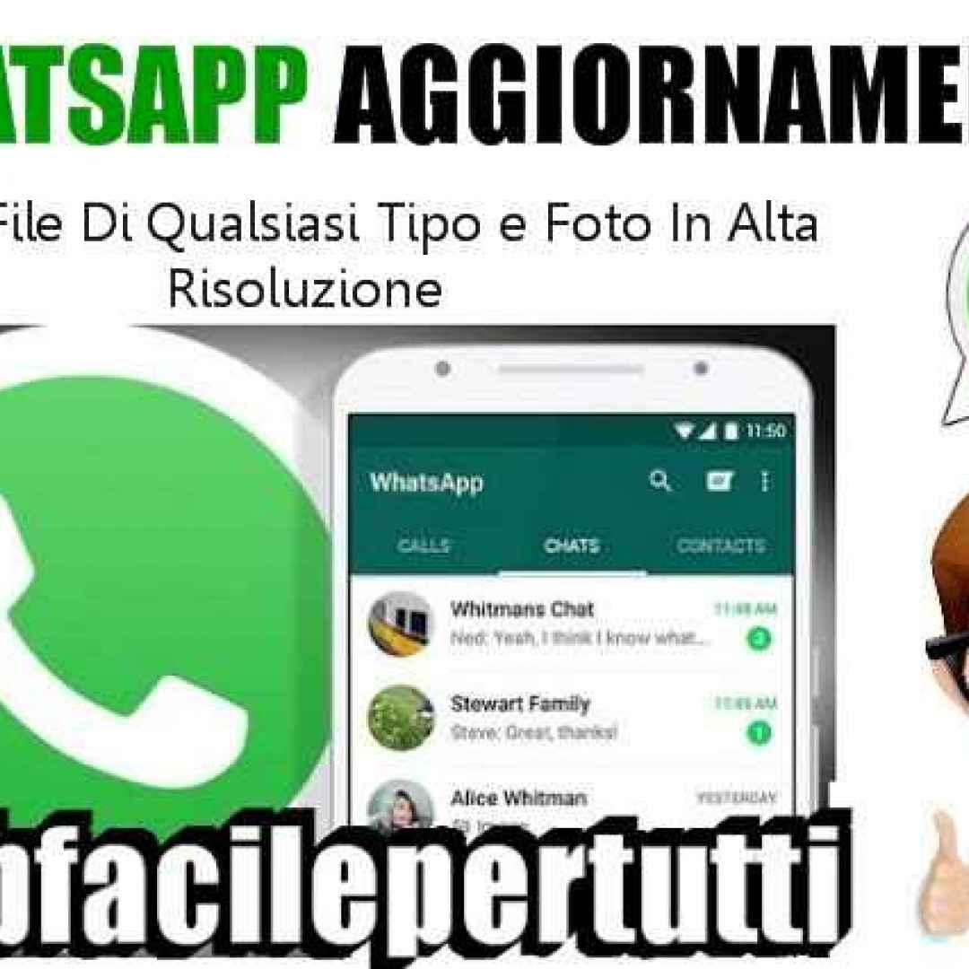 whatsapp aggiornamento