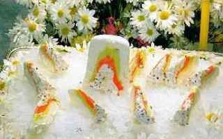 Ricette: cucina siciliana  fragola  gelati  panna