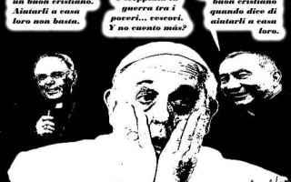 Satira: migranti  vaticano  accoglienza
