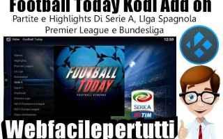 Software Video: football today  kodi  add on