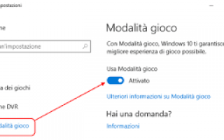 modalità gioco windows-10 streaming