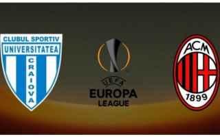 craiova  milan  europa league