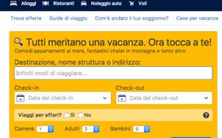 Siti Web: siti simili booking