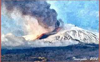 Cultura: etna  fuoco  lava  neve  ode