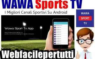 wawa sport tv  canali  android
