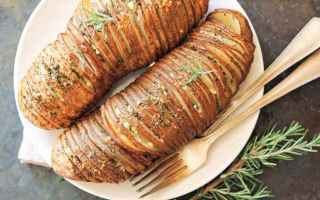 Ricette: hasselback  patata  svedese  street food