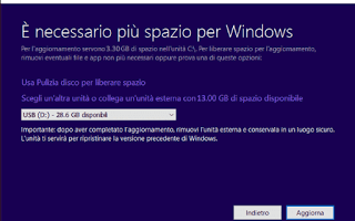 aggiornare windows-10 tablet iso