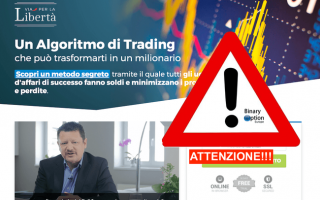 Borsa e Finanza: scam  truffa  trading robot  italiano
