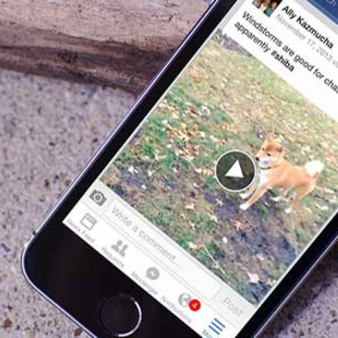 facebook  scaricare video  iphone