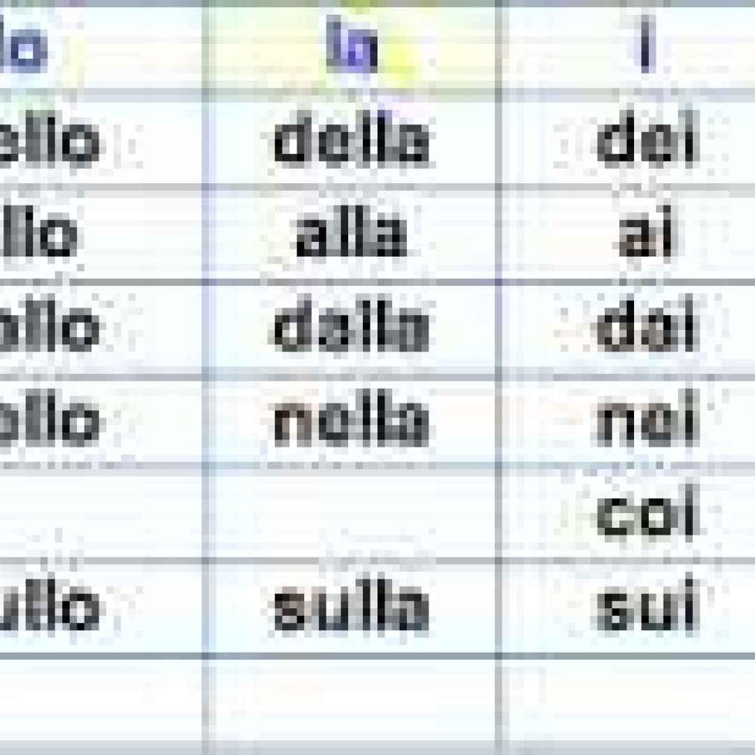 preposizioni semplici  frasi  scuola