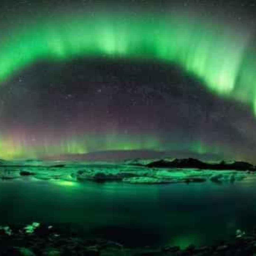 aurora boreale  circolo polare  norvegia