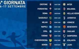Serie A: serie a  4 giornata  programma