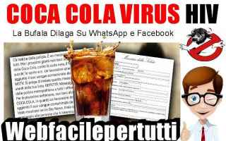 Facebook: coca cola  virus  aids  bufala  hiv