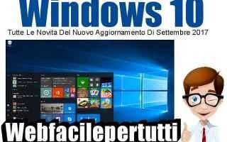 Microsoft: windows 10  novità  aggiornamento