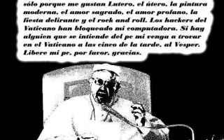 Satira: papa francesco