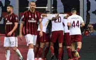 Calcio: roma  milan  calcio  campionato