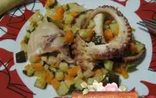 Ricette: ricetta polpo.verdure secondi pesce