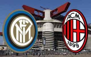 Calcio: derby  milano  inter  milan  serie a