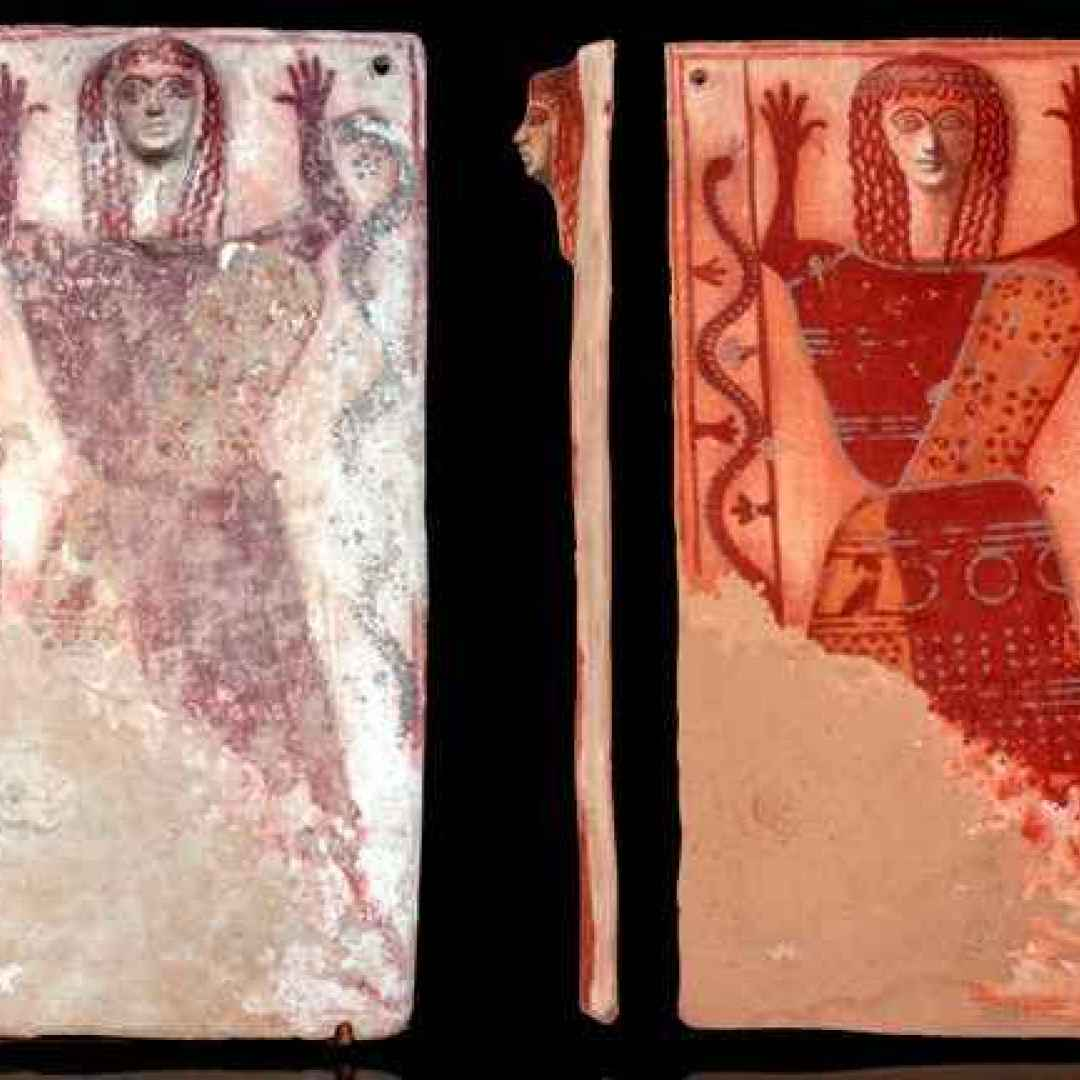 archeologia  dea serpente  demetra