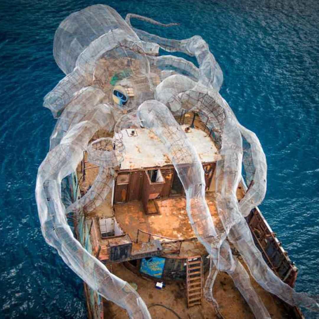 scultura  kraken  scienza