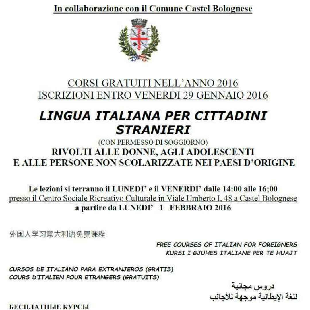Castel Bolognese (Ra): Al via un corso di italiano gratuito ...
