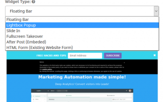 Web Marketing: marketing automation  software