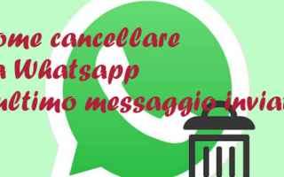 Internet: cancellare  messaggi  whatsapp
