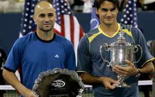 Tennis: agassi  federer  tennis