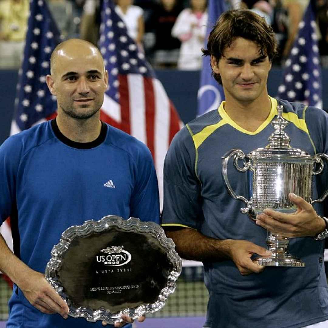 agassi  federer  tennis