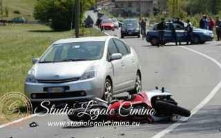 Moto: incidente stradale  gelsomina cimino