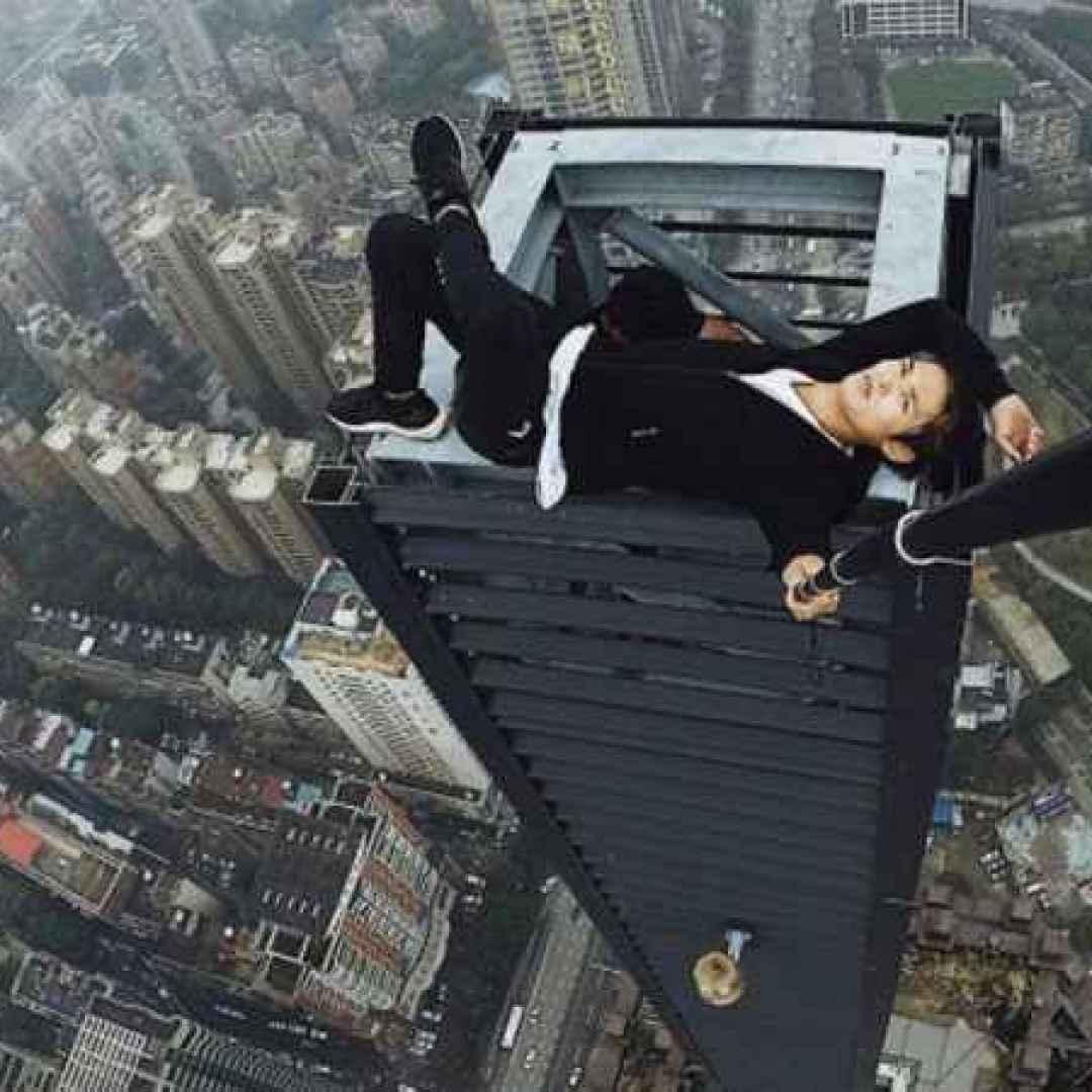 selfie grattacielo fotografia