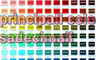 Web Design: esaecimali  colori internertbfacile