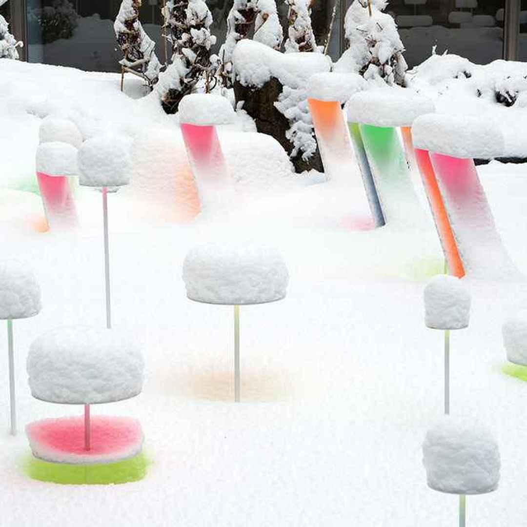 arte  installazione  colore  neve