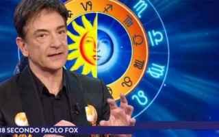 Astrologia: paolo fox  oroscopo 2018