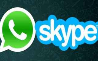 App: skype  whatsapp  messaggistica  app