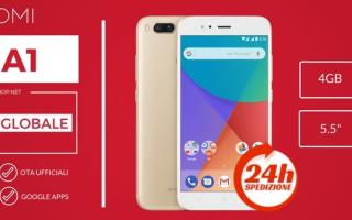 Cellulari: xiaomi mi a1  android  xiaomi  offerta