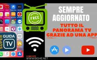 Televisione: programmi tv  tutorial  app