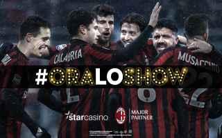 Calcio: oraloshow  star casino  milan
