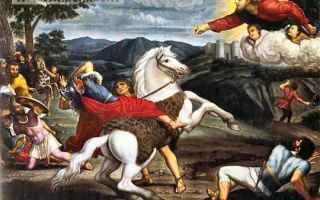 Religione: conversione  damasco  folgorato  pittura