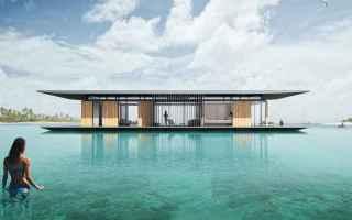 Architettura: casa  galleggiante  natura  sostenibile