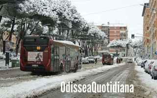 Roma: atac  roma  trasporto pubblico  neve