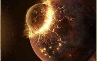 Astronomia: collisione  luna  terra  theia
