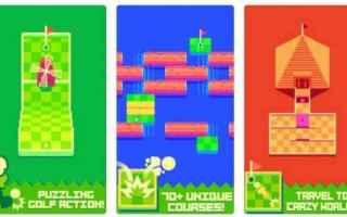 Mobile games: videogame  pixel art  minigolf