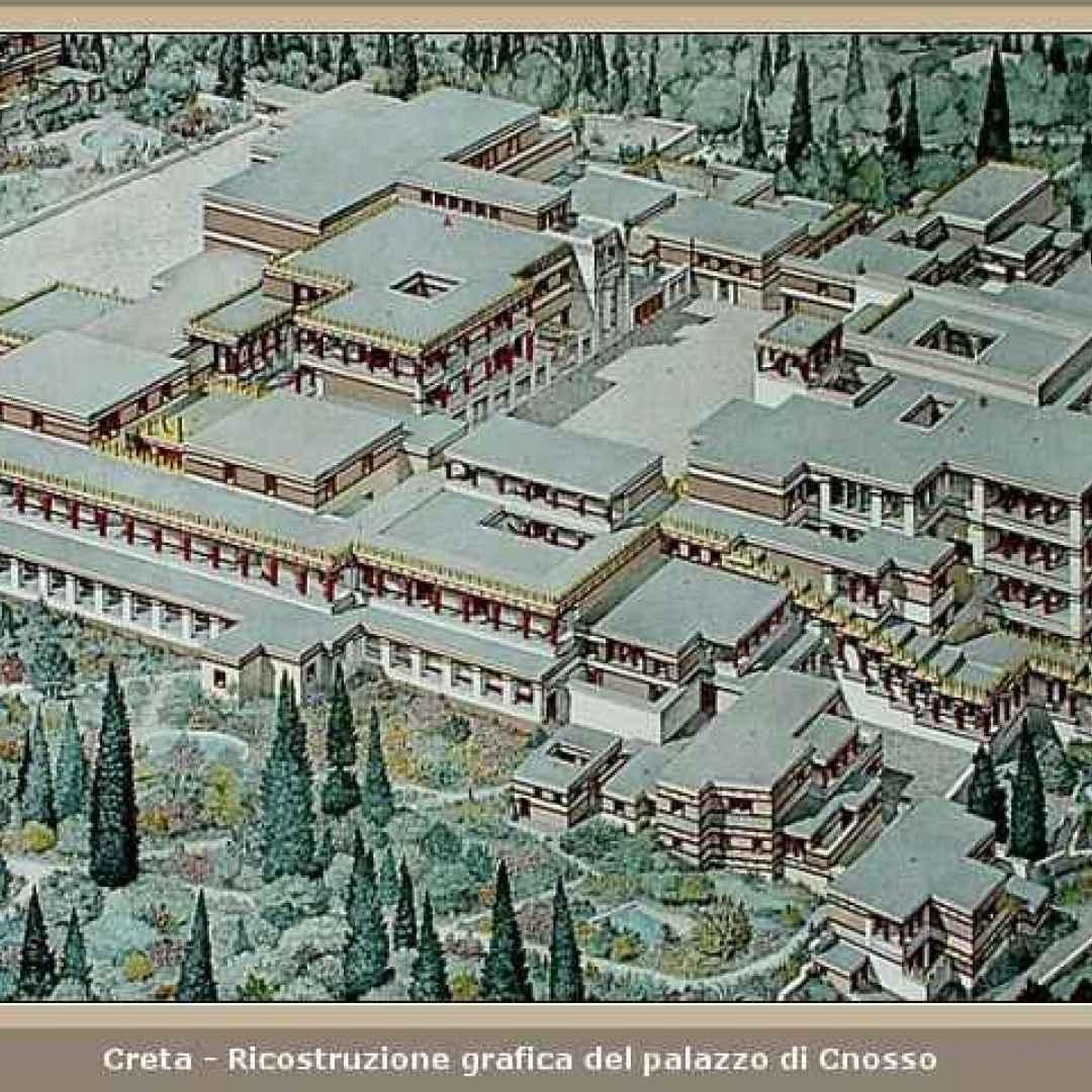 archeologia  cnosso  creta  labirinto