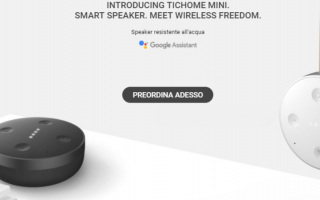 Tecnologie: tichome mini  google home  mobvoi  smart