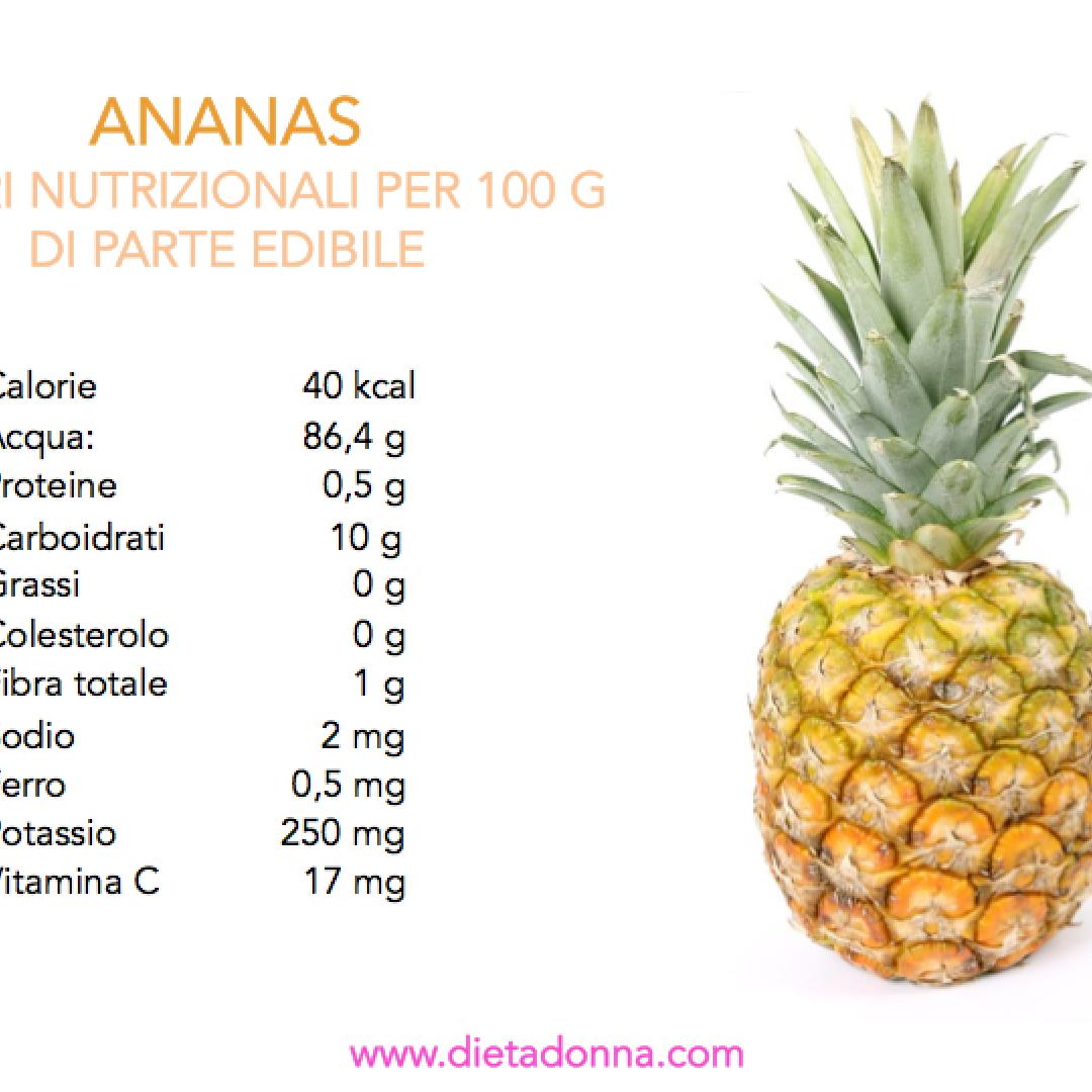 ananas  frutta esotica  grassi  dieta