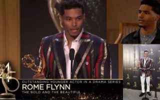 Soap TV: Beautiful News: Rome Flynn (Zende) premiato ai Daytime Emmy 2018