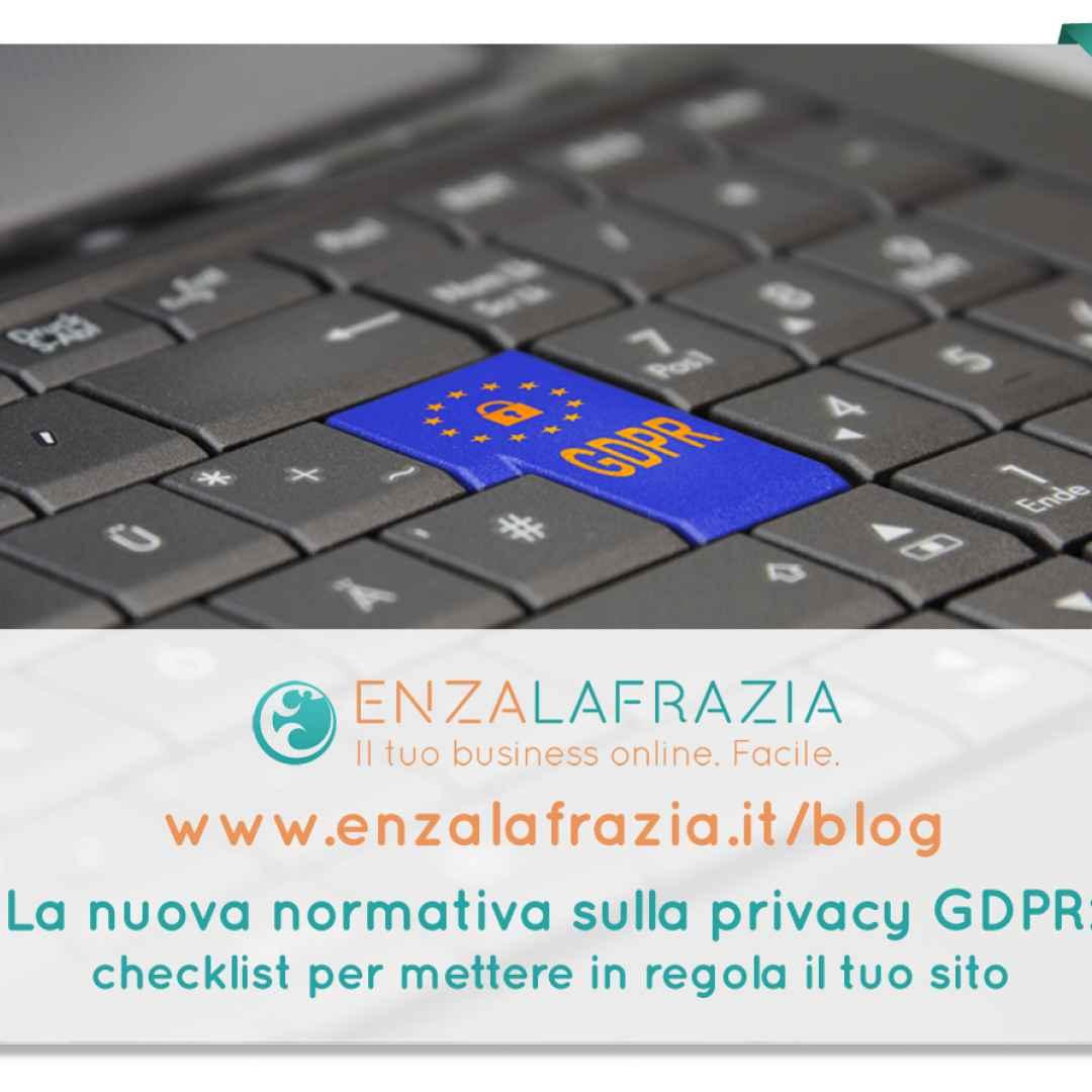 gdpr  privacy  legge sulla privacy